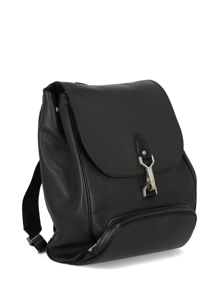 Louis Vuitton Women's Backpack Black Leather In Fair Condition In Milan, IT