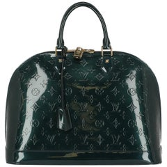 Louis Vuitton Women's Handbag Alma Green Leather