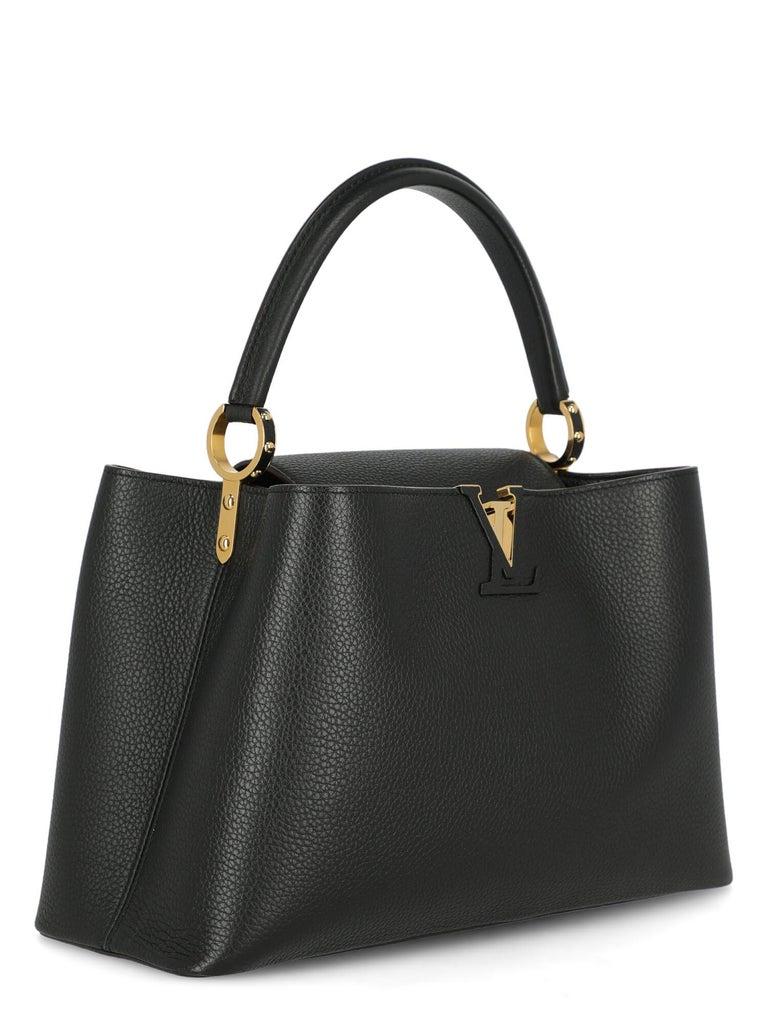 Louis Vuitton Women's Handbag Capucines Black Leather In Good Condition For Sale In Milan, IT