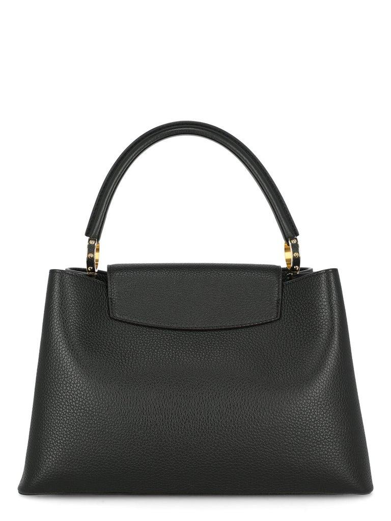 Louis Vuitton Women's Handbag Capucines Black Leather For Sale 1