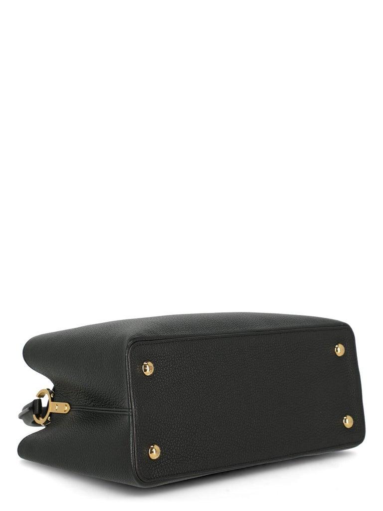 Louis Vuitton Women's Handbag Capucines Black Leather For Sale 2