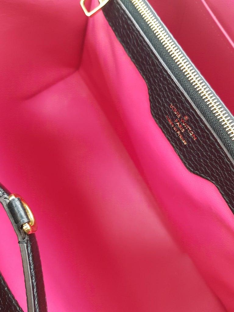 Louis Vuitton Women's Handbag Capucines Black Leather For Sale 3