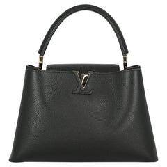 Louis Vuitton Women's Handbag Capucines Black Leather