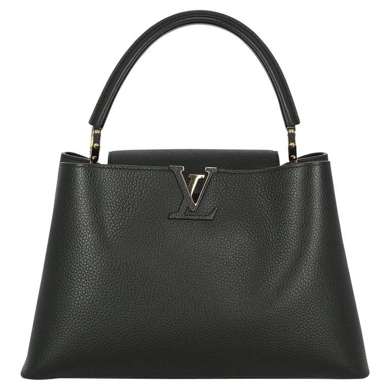 Louis Vuitton Women's Handbag Capucines Black Leather For Sale