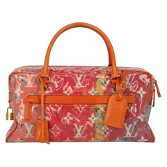 Louis Vuitton Women's Handbag Orange/Pink Synthetic Fibers
