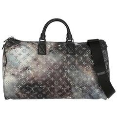 Louis Vuitton Women's Keepall 50 Grey/Purple Synthetic Fibers