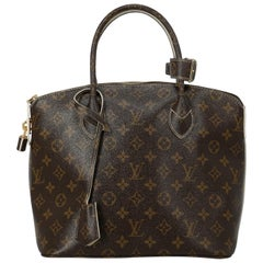 Louis Vuitton Women's Tote Bag Lockit Brown Synthetic Fibers