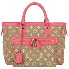 Louis Vuitton Women's Tote Bag Monogram Cabas Beige/Pink/White Cotton
