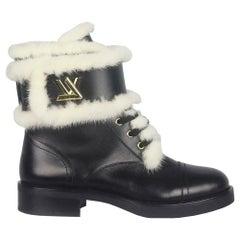 Louis Vuitton Wonderland Ranger Mink Fur Trimmed Leather Boots
