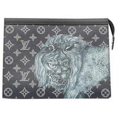 Louis Vuitton X Chapman Brothers Limited Edition Blue Savane Pochette Voyage