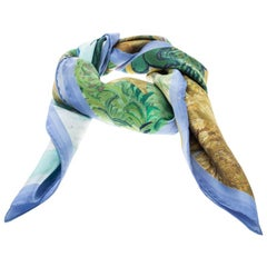 Louis Vuitton X Jeff Koons A Wheatfield Cypresses Printed Lurex Square Scarf
