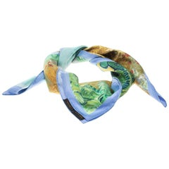 Louis Vuitton X Jeff Koons A Wheatfield With Cypresses Lurex Square Scarf