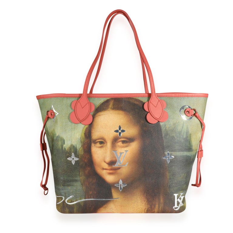 Louis Vuitton x Jeff Koons Masters Collection Mona Lisa Neverfull MM 1