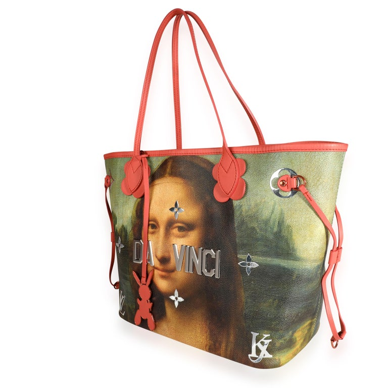 Louis Vuitton x Jeff Koons Masters Collection Mona Lisa Neverfull MM 3