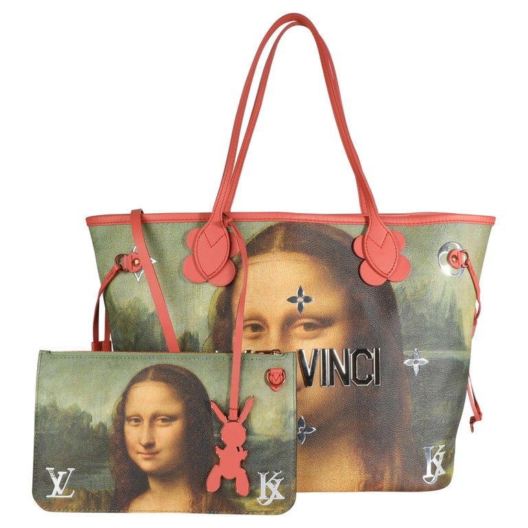 Louis Vuitton x Jeff Koons Masters Collection Mona Lisa Neverfull MM