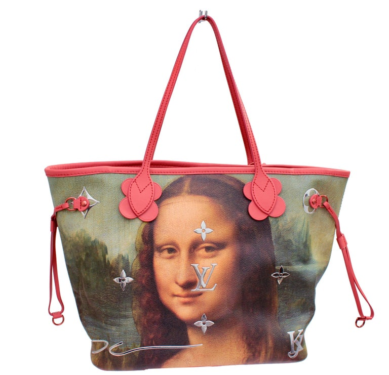 Louis Vuitton x Jeff Koons Monalisa Masters Neverfull MM Tote  For Sale 5
