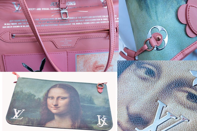 Louis Vuitton x Jeff Koons Monalisa Masters Neverfull MM Tote  For Sale 3