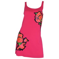 Louis Vuitton x Stephen Sprouse Jersey Dress with Flower Motif