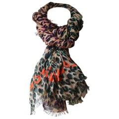 Louis Vuitton x Stephen Sprouse Leopard Print Cashmere Blend Scarf