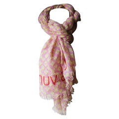 Louis Vuitton x Stephen Sprouse Monogram-Print Cashmere-Blend Scarf