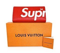 Louis Vuitton x Supreme Brazza Red Epi Leather Bi Fold Wallet