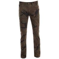 Louis Vuitton X Supreme Camouflage Monogram Jacquard Regular Fit Jeans M