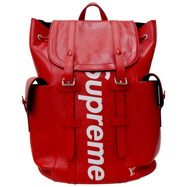 Louis Vuitton x Supreme Christopher backpack, 2017, offered by Vintage by Misty