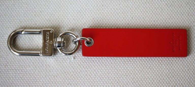 Orange Louis Vuitton X Supreme Epi Leather Key Chain