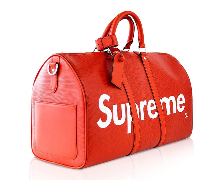 The Highly Coveted And Sought After Louis Vuitton Supreme X Very Limited Edition Iconic Keepall 45