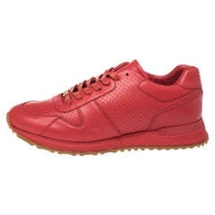 Louis Vuitton x Supreme Red Leather Run Away Sneakers Size 42