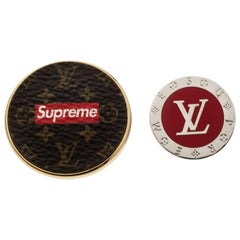 Louis Vuitton x Supreme Set of 2 Pin Brooch