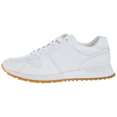 Louis Vuitton x Supreme White Leather Run Away Sneakers