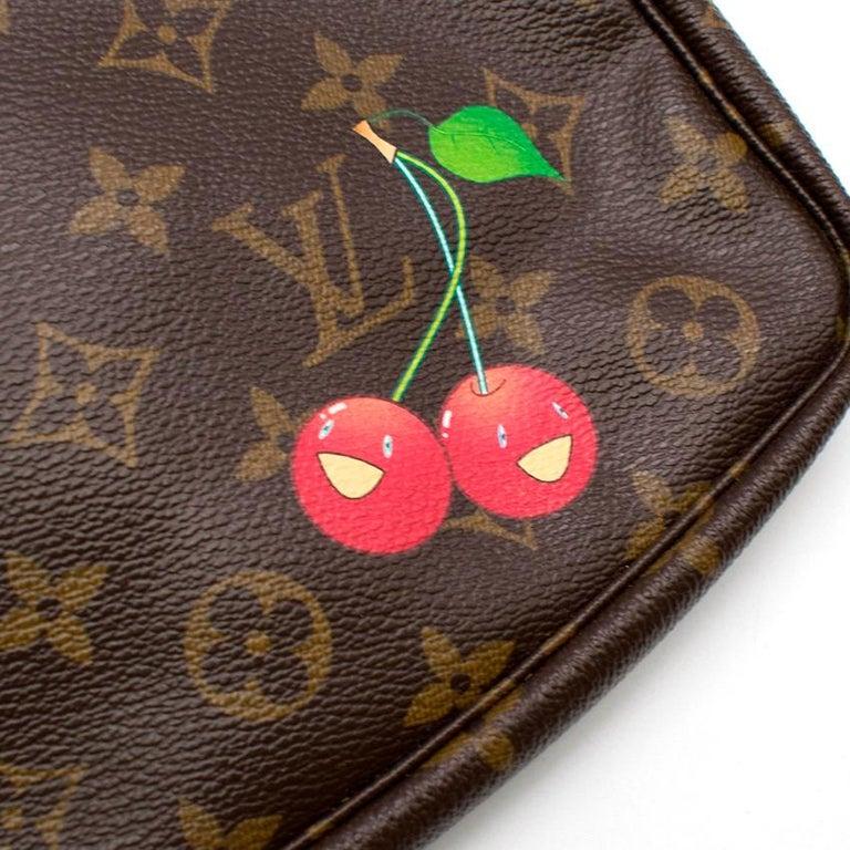 Women's Louis Vuitton x Takashi Murakami Cherry Pochette Accessoires 12cm For Sale