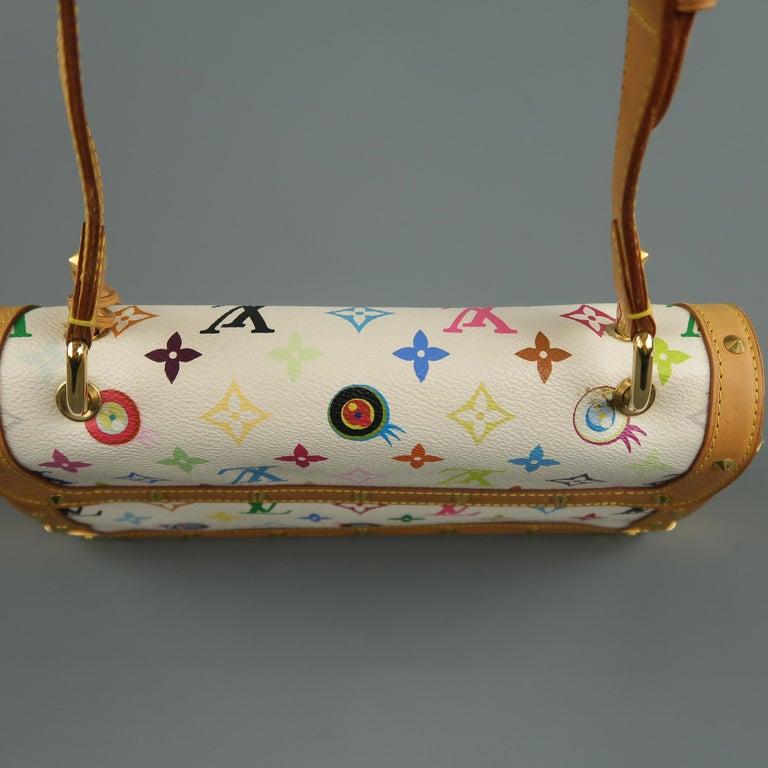 Tasche von LOUISVUITTON x Takashi Murakami Weiße Mehrfarbige Monogramm EYE NEED YOU Tasche 13