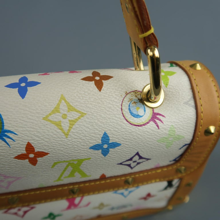 Tasche von LOUISVUITTON x Takashi Murakami Weiße Mehrfarbige Monogramm EYE NEED YOU Tasche 14