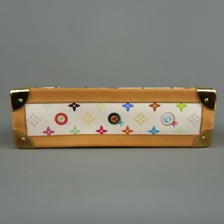 Tasche von LOUISVUITTON x Takashi Murakami Weiße Mehrfarbige Monogramm EYE NEED YOU Tasche 15