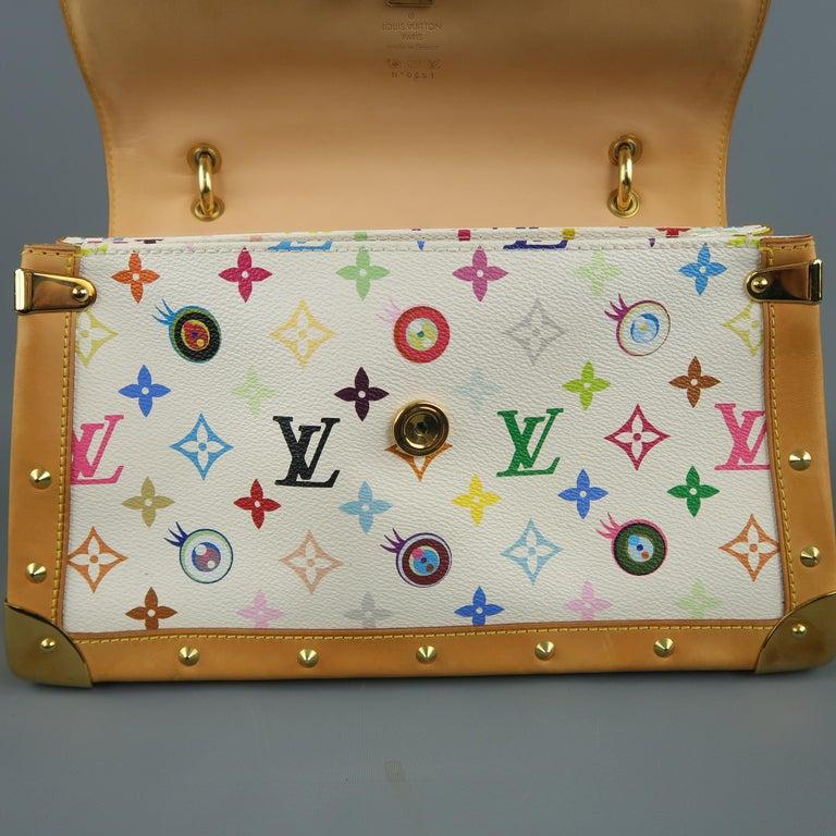 Tasche von LOUISVUITTON x Takashi Murakami Weiße Mehrfarbige Monogramm EYE NEED YOU Tasche 18