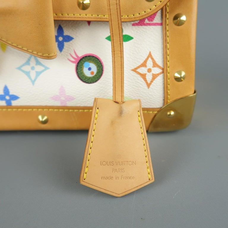 Tasche von LOUISVUITTON x Takashi Murakami Weiße Mehrfarbige Monogramm EYE NEED YOU Tasche 2