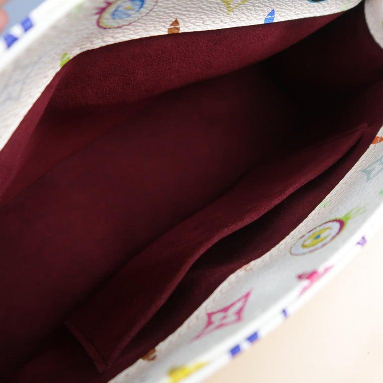 Tasche von LOUISVUITTON x Takashi Murakami Weiße Mehrfarbige Monogramm EYE NEED YOU Tasche 20