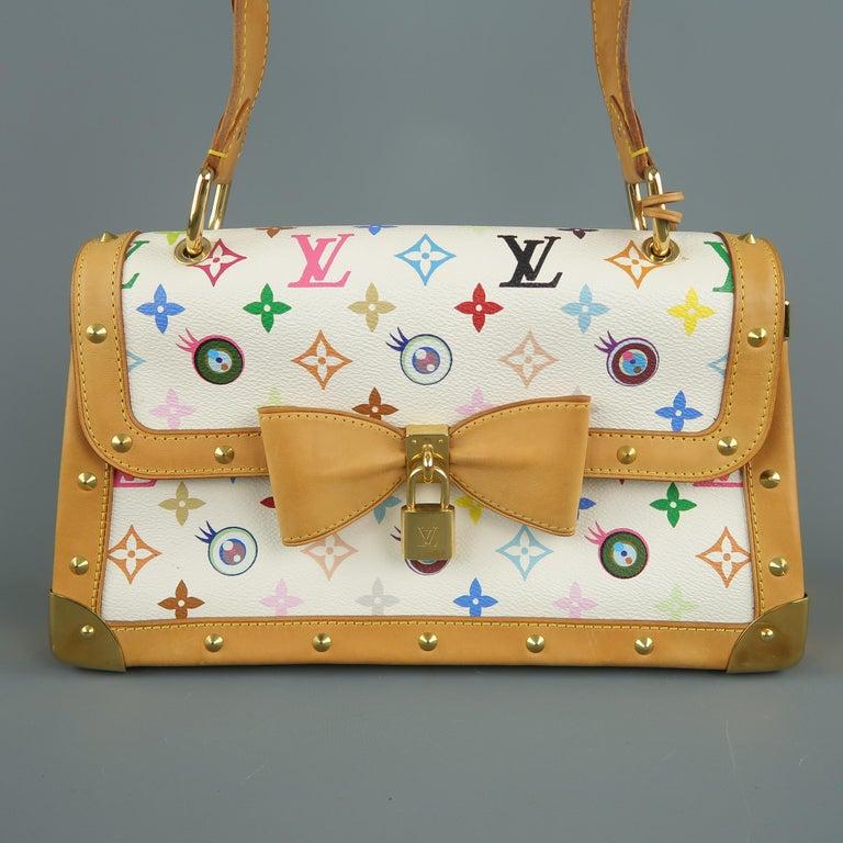 Tasche von LOUISVUITTON x Takashi Murakami Weiße Mehrfarbige Monogramm EYE NEED YOU Tasche 3