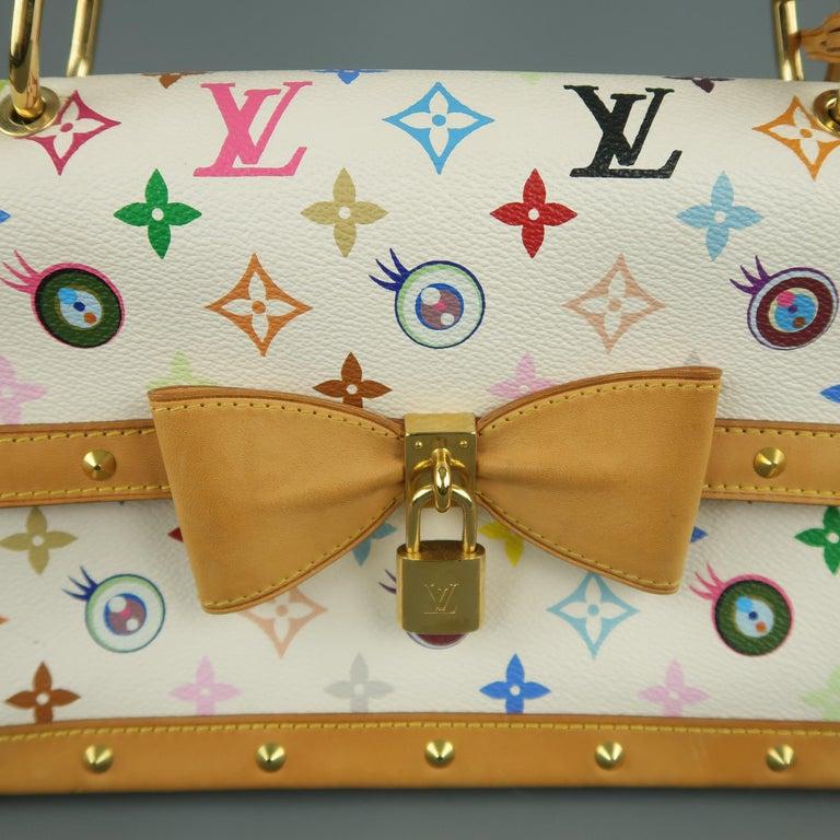 Tasche von LOUISVUITTON x Takashi Murakami Weiße Mehrfarbige Monogramm EYE NEED YOU Tasche 4