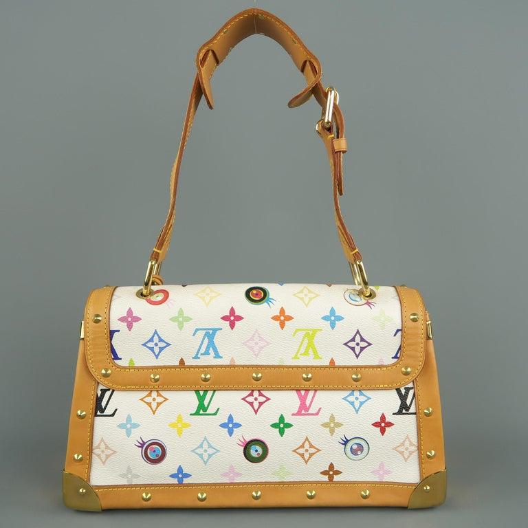 Tasche von LOUISVUITTON x Takashi Murakami Weiße Mehrfarbige Monogramm EYE NEED YOU Tasche 7