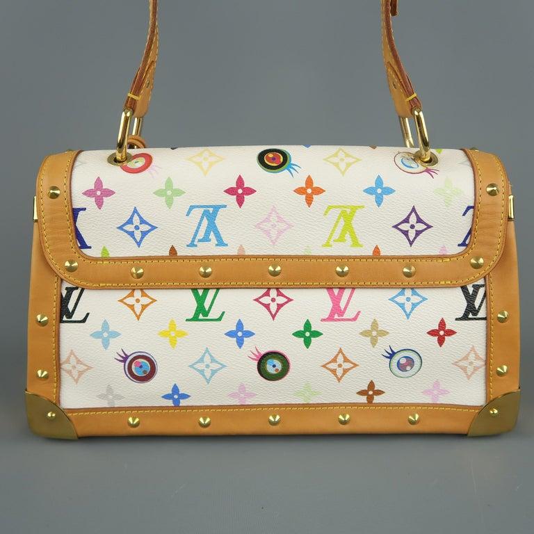 Tasche von LOUISVUITTON x Takashi Murakami Weiße Mehrfarbige Monogramm EYE NEED YOU Tasche 8
