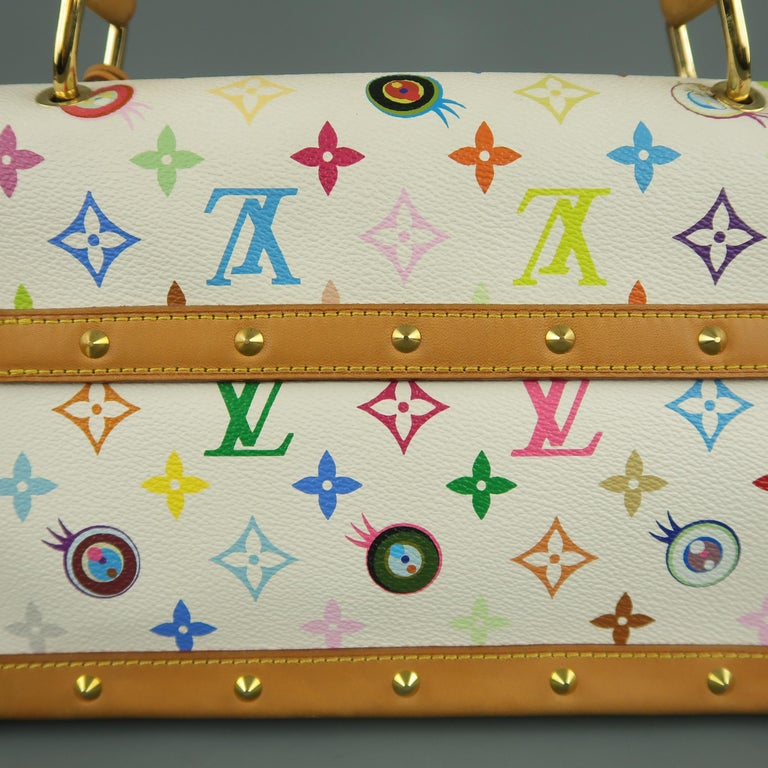 Tasche von LOUISVUITTON x Takashi Murakami Weiße Mehrfarbige Monogramm EYE NEED YOU Tasche 9