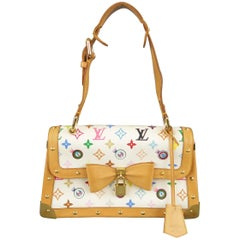 LOUIS VUITTON x Takashi Murakami White Multicolor Monogram EYE NEED YOU Bag