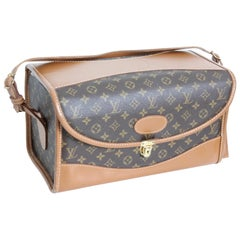 Louis Vuitton x The French Company Monogram Train Case Vanity Carry On Bag 70s