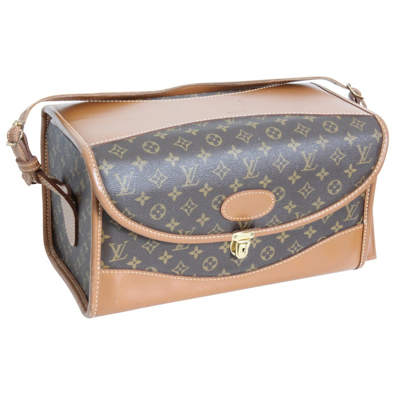 bb0c5e1d0d06 Louis Vuitton x The French Company Monogram Train Case Vanity Carry On Bag  70s For Sale