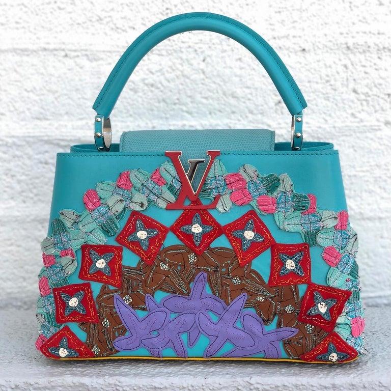 Blue Louis Vuitton x Tschabalala Self Artycapucines PM Bag For Sale