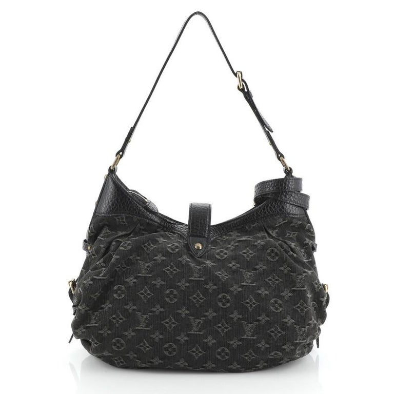 Women's or Men's Louis Vuitton XS Hobo Denim For Sale