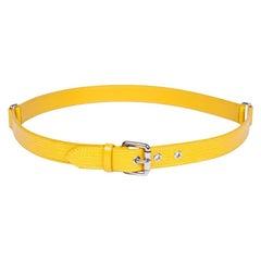 Louis Vuitton Yellow Epi Leather Belt  'Trio'